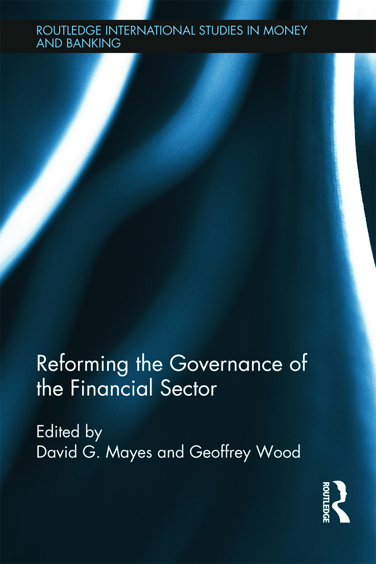 Reforming the Governance of the Financial Sector (Hardback) book cover