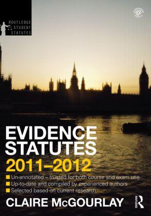 Evidence Statutes 2011-2012