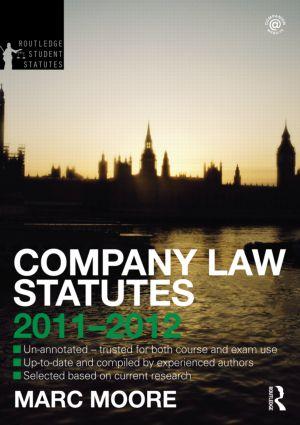 Company Law Statutes 2011-2012