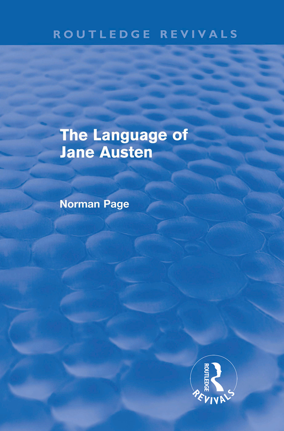 The Language of Jane Austen (Routledge Revivals) (Hardback) book cover