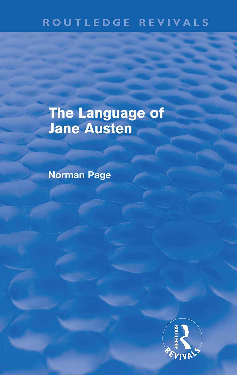 The Language of Jane Austen (Routledge Revivals) (Paperback) book cover