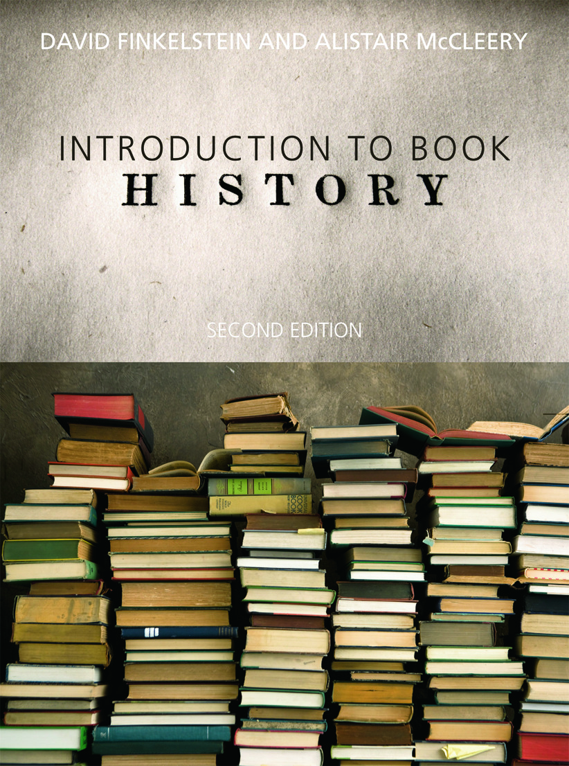 Introduction to Book History book cover