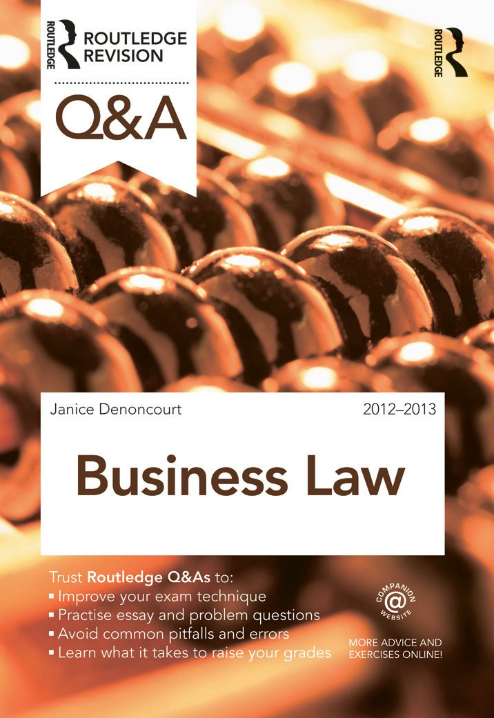 qa business law nd edition paperback  routledge qa business law