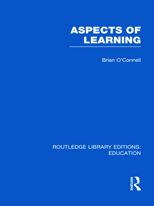 Aspects of Learning (RLE Edu O) (Hardback) book cover