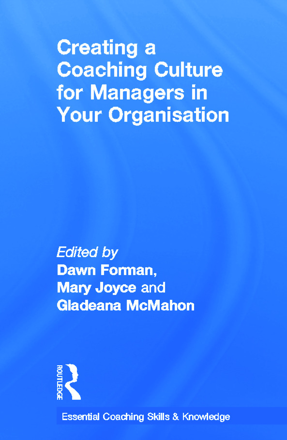 Creating a Coaching Culture for Managers in Your Organisation book cover
