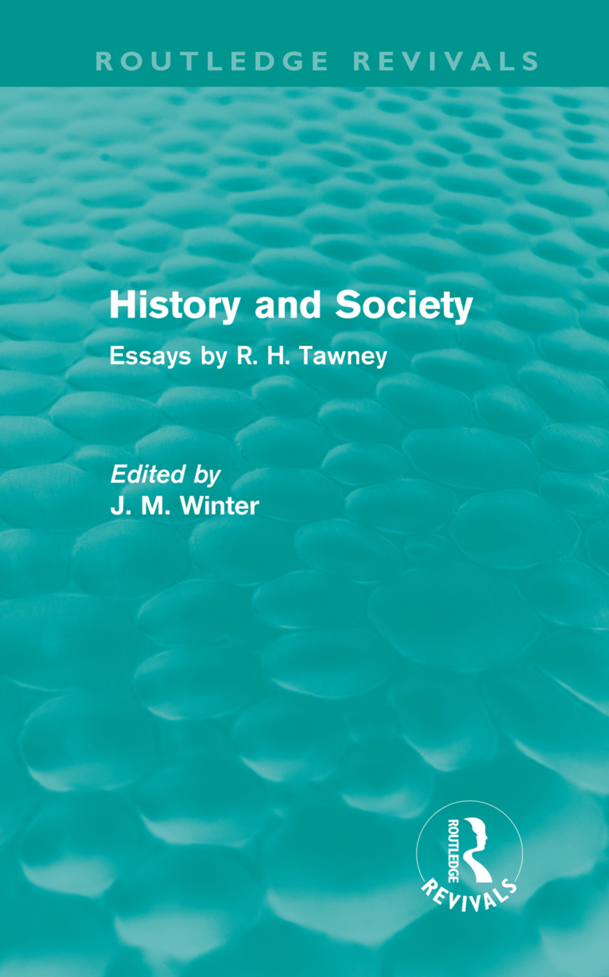 History and Society: Essays by R.H. Tawney (Hardback) book cover