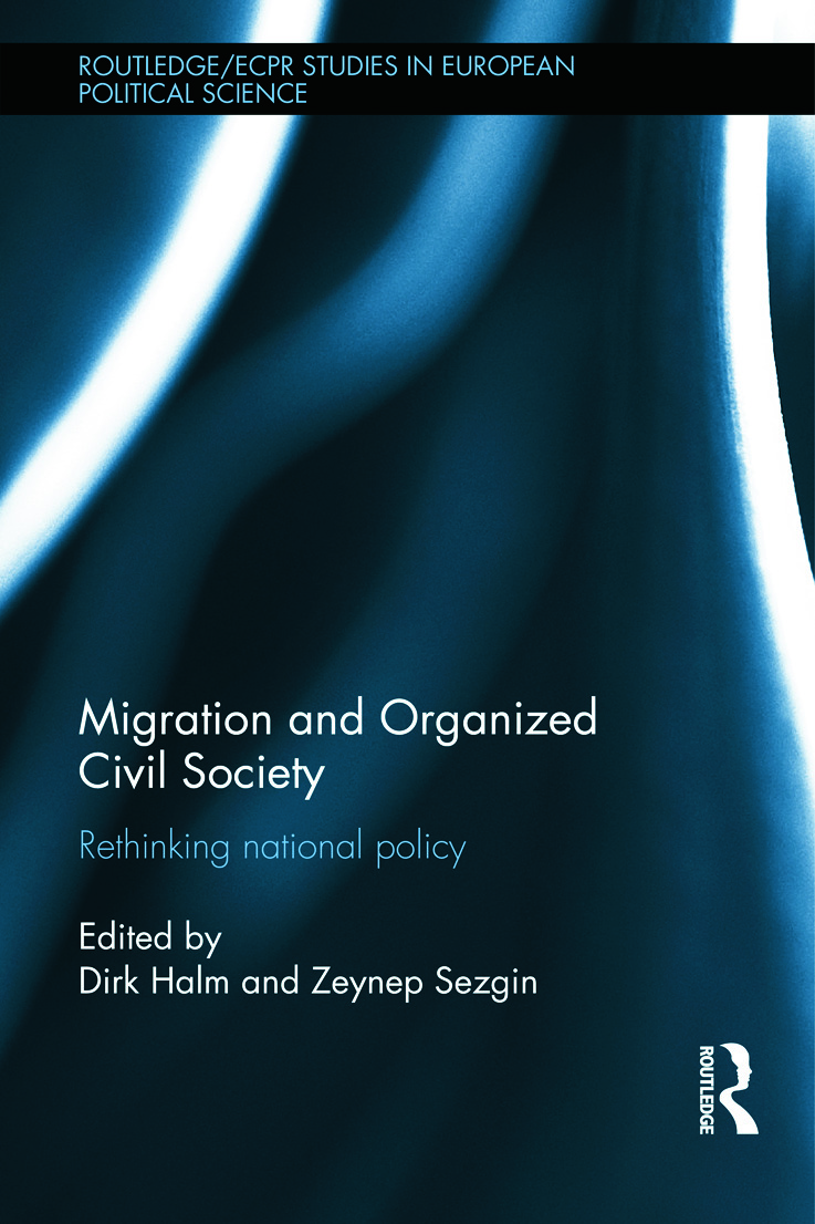Migration and Organized Civil Society: Rethinking National Policy (Hardback) book cover