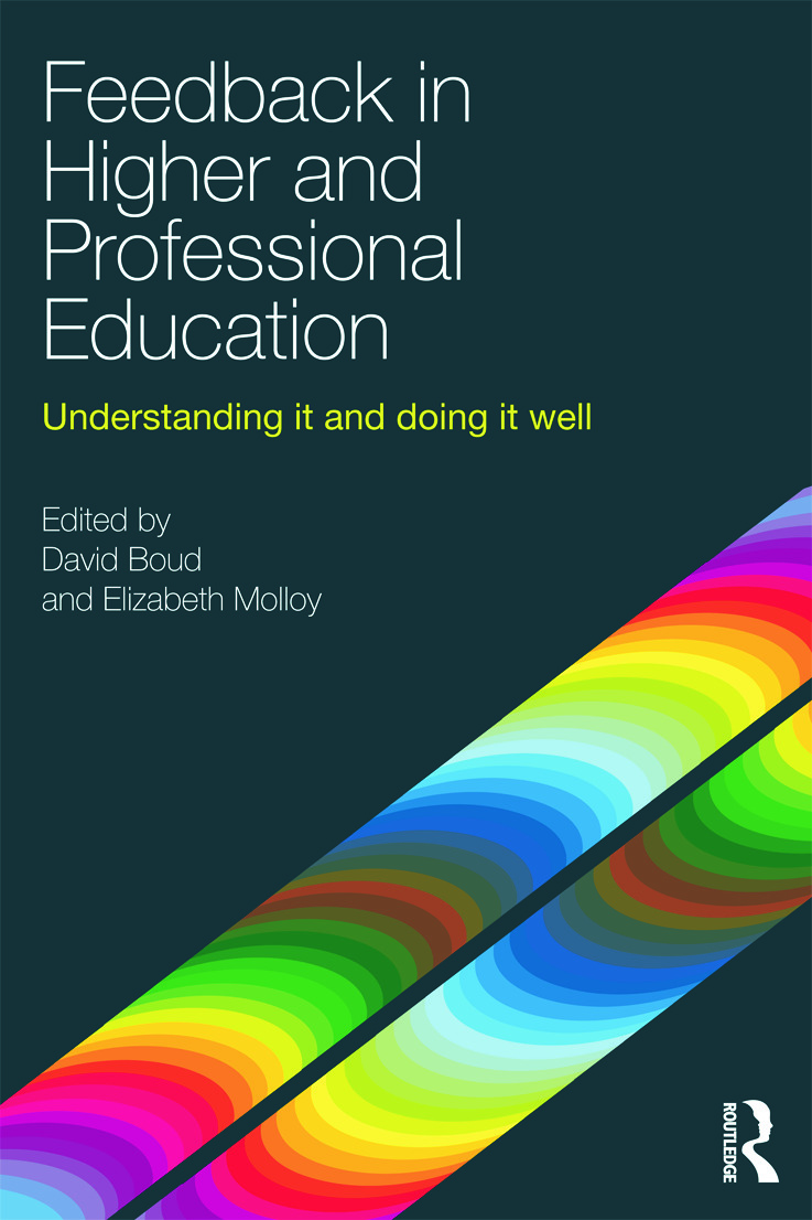 Feedback in Higher and Professional Education: Understanding it and doing it well (Paperback) book cover