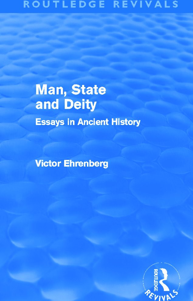 Man, State and Deity: Essays in Ancient History (Paperback) book cover