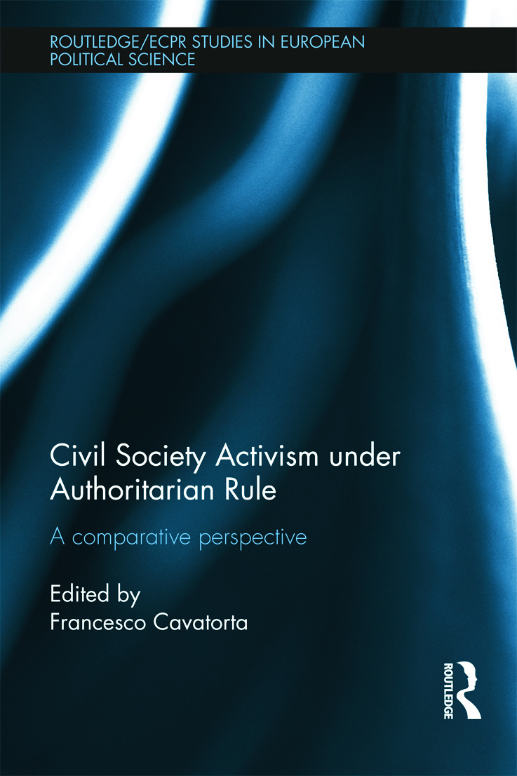 Civil Society Activism under Authoritarian Rule: A Comparative Perspective (Hardback) book cover