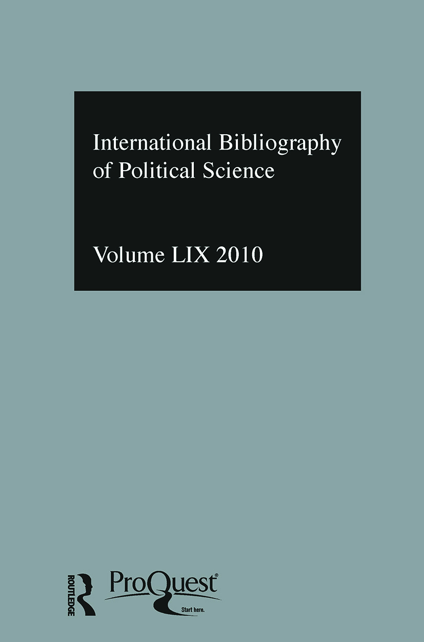IBSS: Political Science: 2010 Vol.59: International Bibliography of the Social Sciences (Hardback) book cover