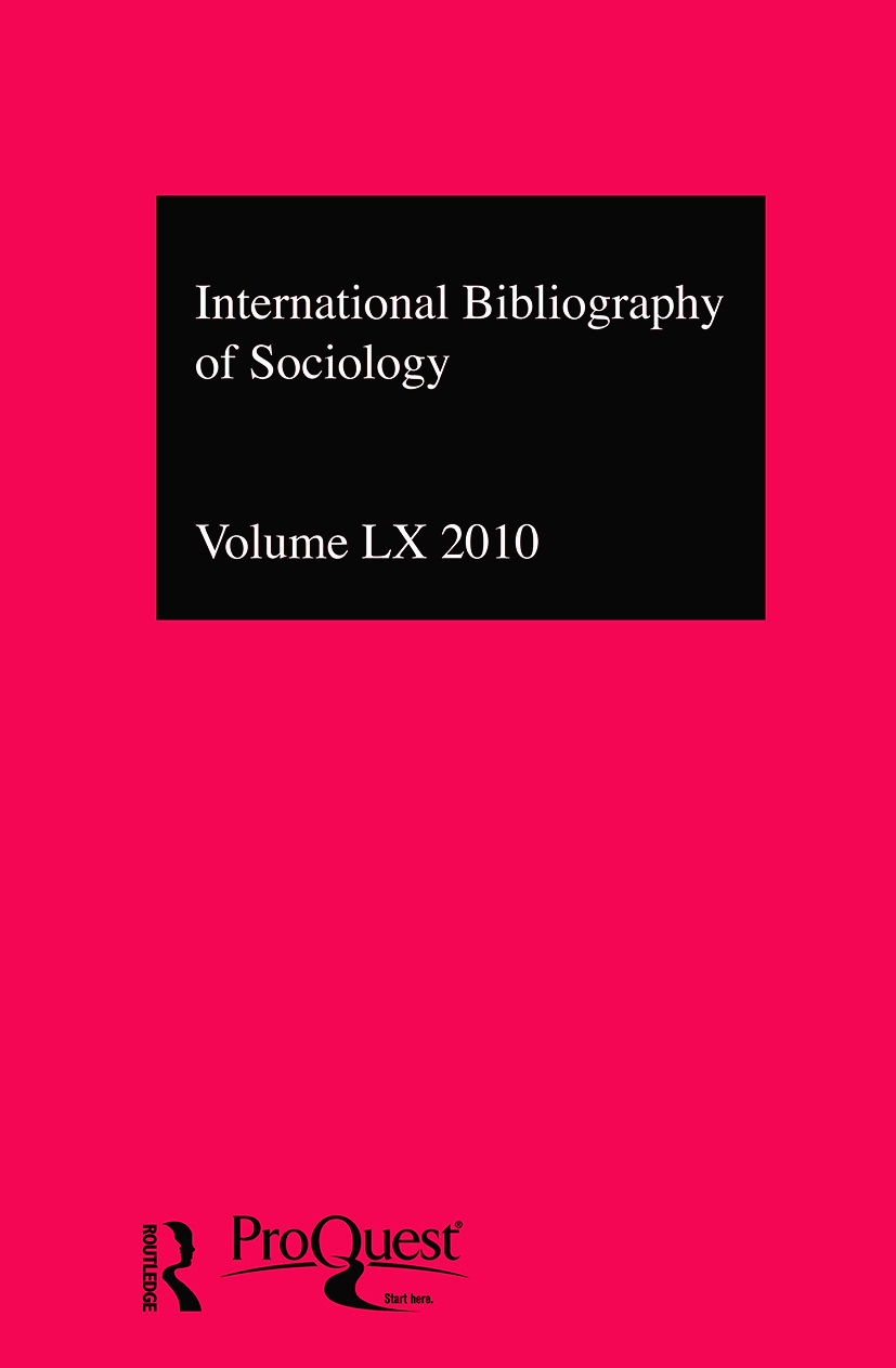 IBSS: Sociology: 2010 Vol.60: International Bibliography of the Social Sciences (Hardback) book cover