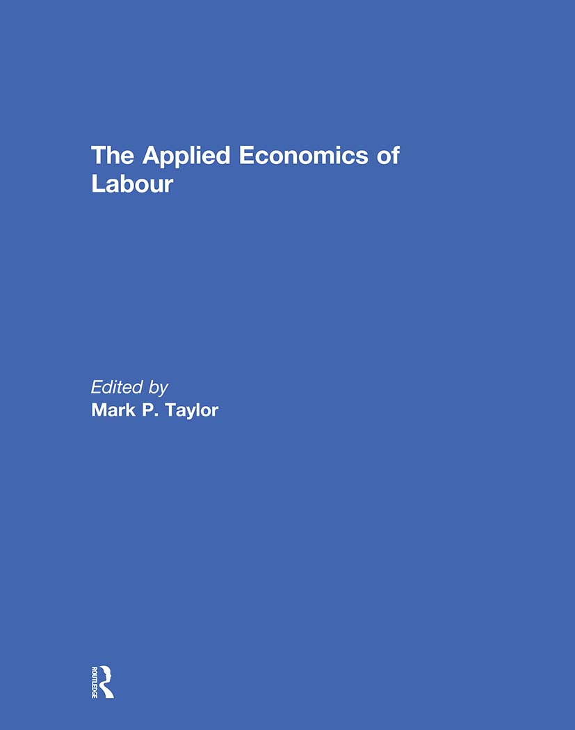 The Applied Economics of Labour (Hardback) book cover