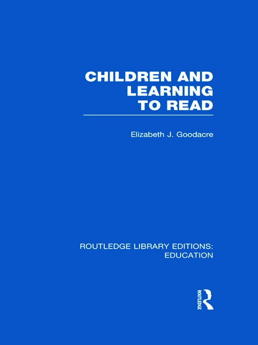 Children and Learning to Read (RLE Edu I) (Hardback) book cover
