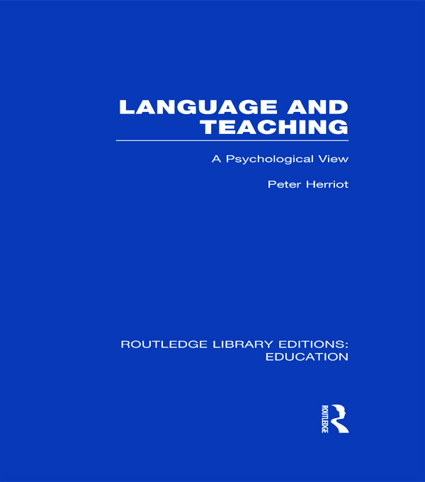Routledge Library Editions: Education Mini-Set I Language & Literacy 9 vol set (Hardback) book cover