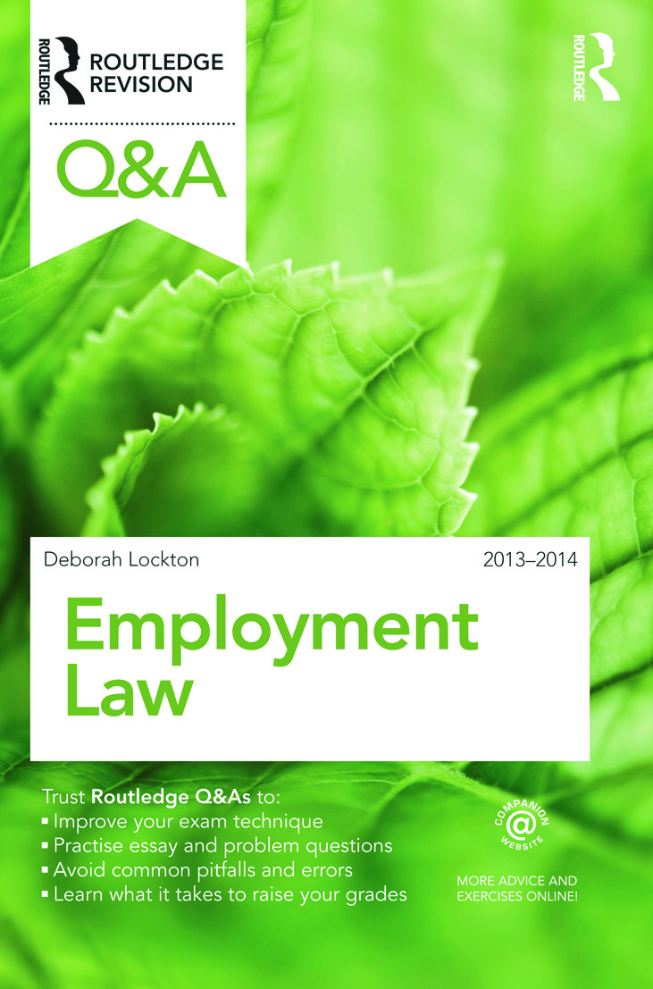 Q&A Employment Law 2013-2014: 8th Edition (Paperback) book cover