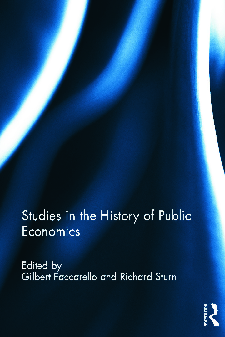Studies in the History of Public Economics: 1st Edition (Hardback) book cover