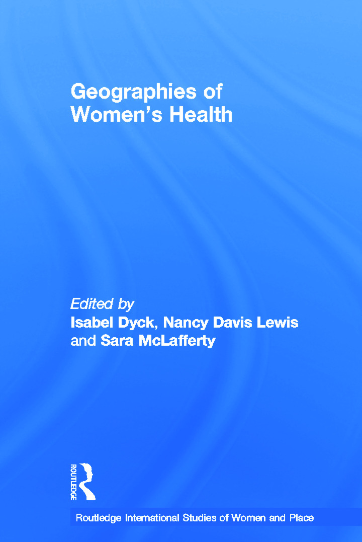 Geographies of Women's Health: Place, Diversity and Difference book cover