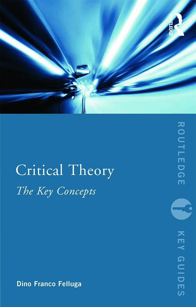 Critical Theory: The Key Concepts (Paperback) book cover