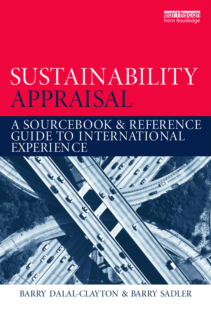 Sustainability Appraisal: A Sourcebook and Reference Guide to International Experience (Paperback) book cover