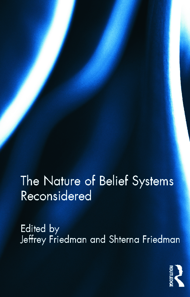 The Nature of Belief Systems Reconsidered (Hardback) book cover