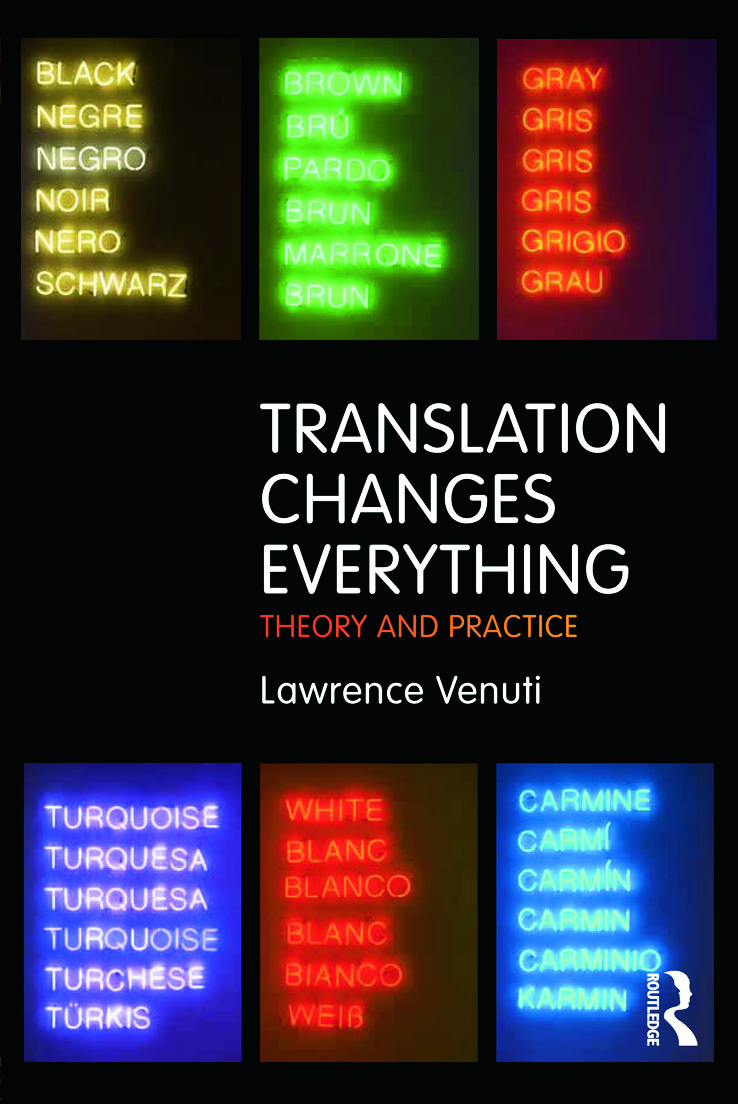 Translation Changes Everything: Theory and Practice (Paperback) book cover