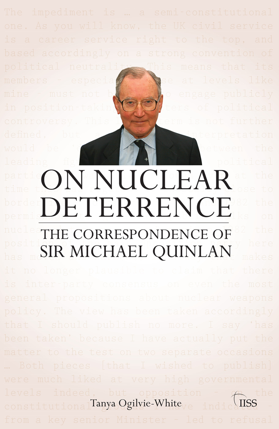 On Nuclear Deterrence: The Correspondence of Sir Michael Quinlan (Paperback) book cover