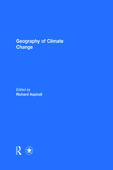 Geography of Climate Change (Hardback) book cover