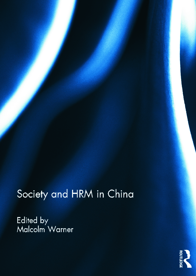 Society and HRM in China (Hardback) book cover