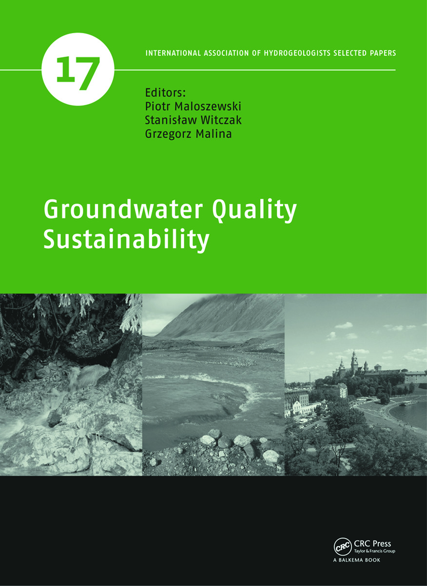 Groundwater Quality Sustainability: 1st Edition (Hardback) book cover