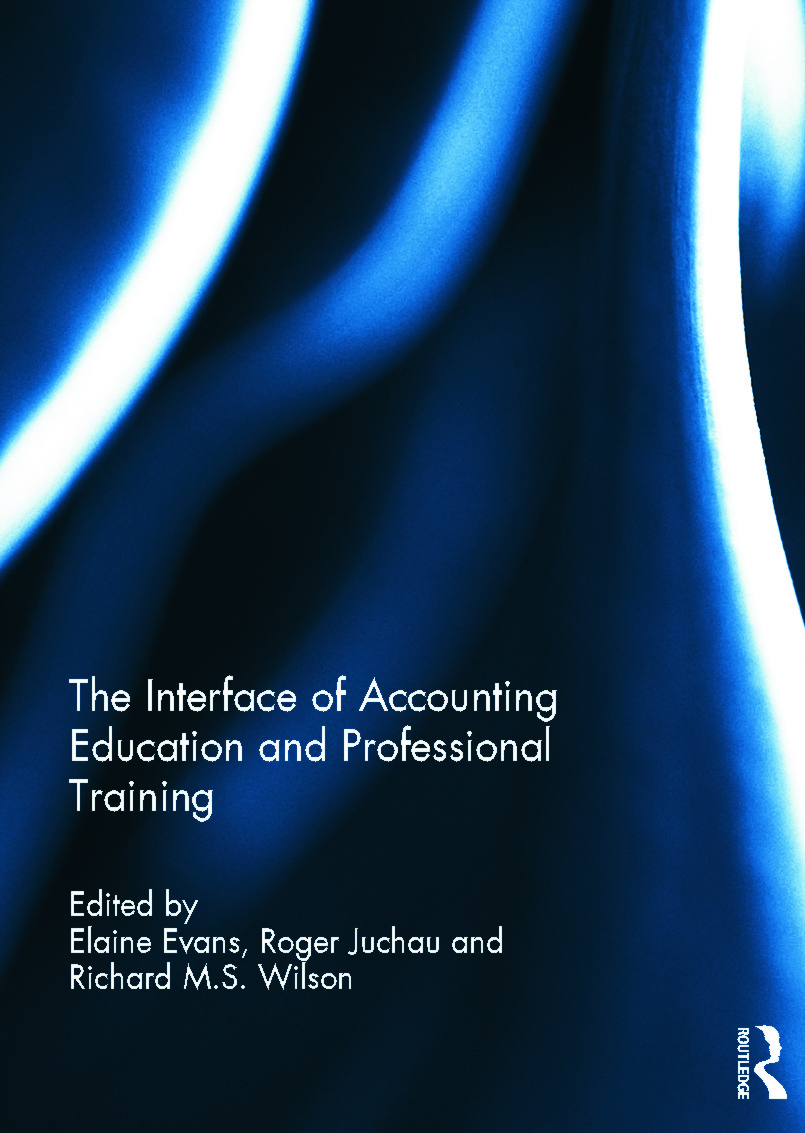 The Interface of Accounting Education and Professional Training (Hardback) book cover