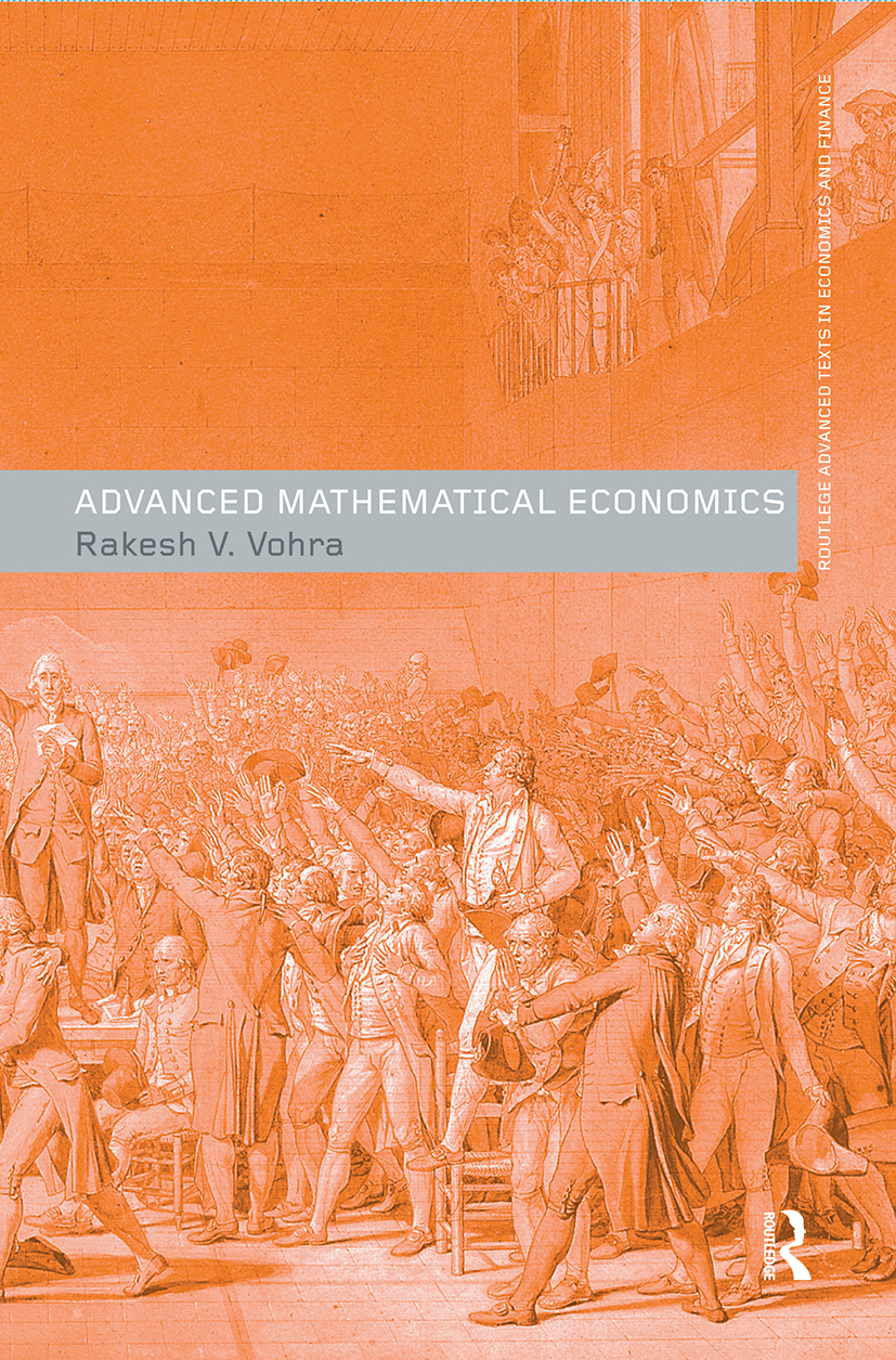 Advanced Mathematical Economics book cover