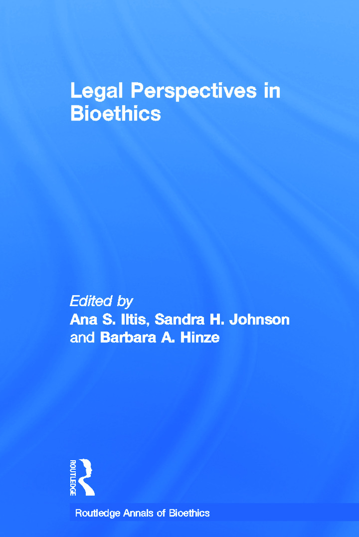 Legal Perspectives in Bioethics book cover