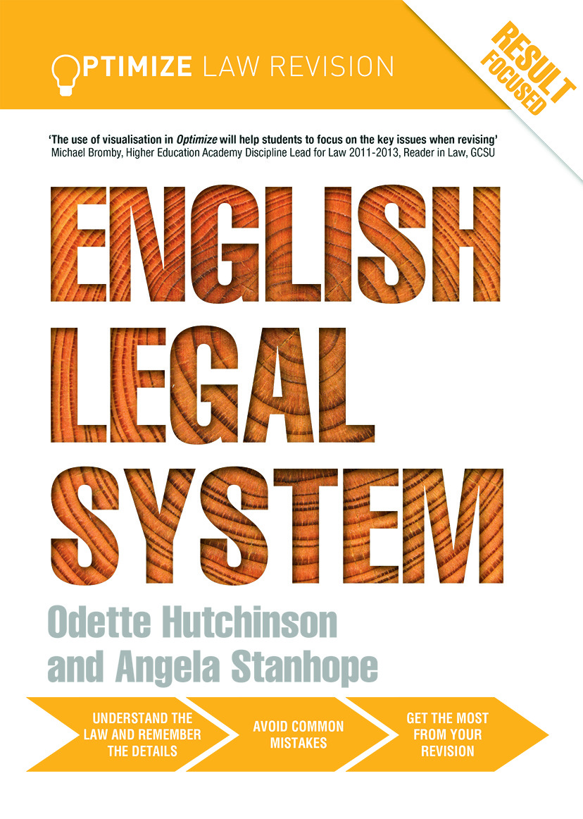 Optimize English Legal System (Paperback) book cover