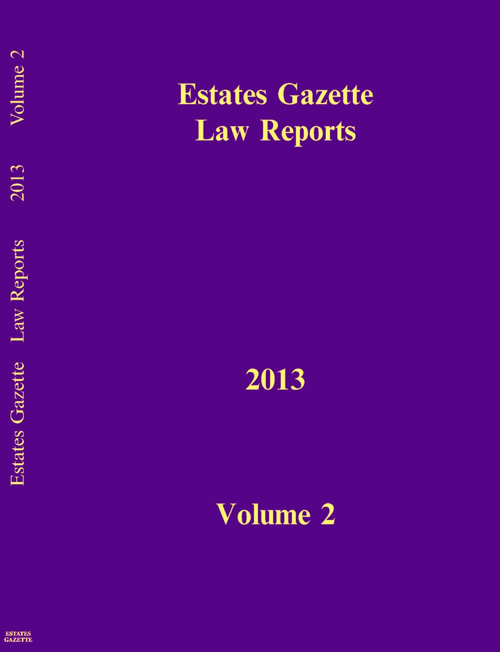 EGLR 2013 V2 book cover