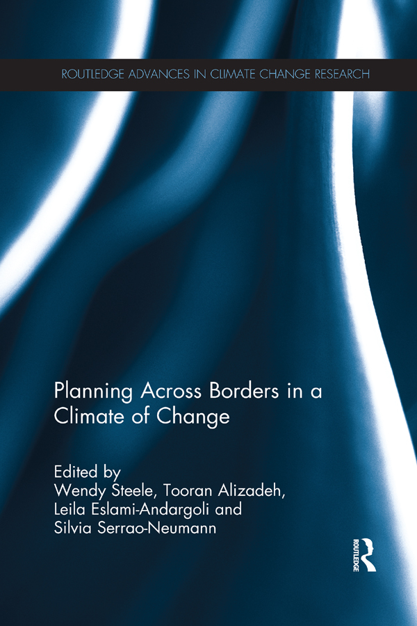 Planning Across Borders in a Climate of Change: 1st Edition (Hardback) book cover