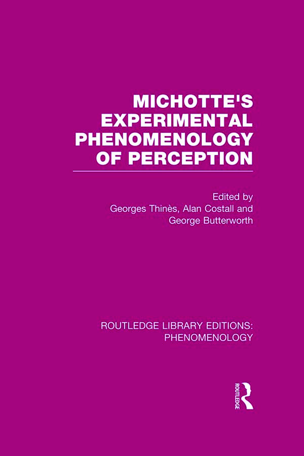 Michotte's Experimental Phenomenology of Perception book cover