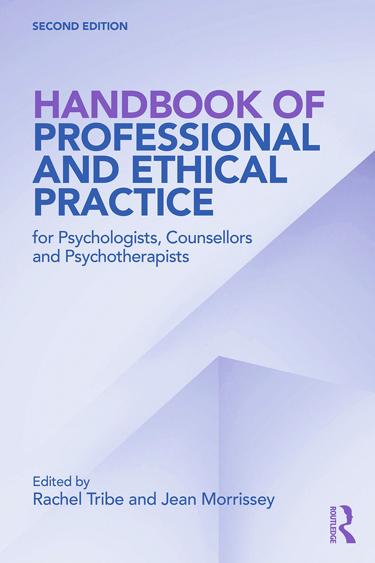 Handbook of Professional and Ethical Practice for Psychologists, Counsellors and Psychotherapists: 2nd Edition (e-Book) book cover