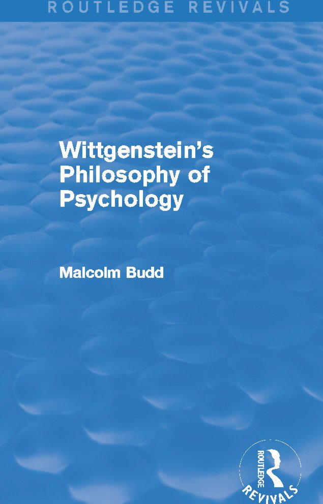 Wittgenstein's Philosophy of Psychology (Routledge Revivals) (Hardback) book cover