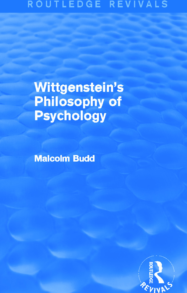 Wittgenstein's Philosophy of Psychology (Routledge Revivals): 1st Edition (Paperback) book cover