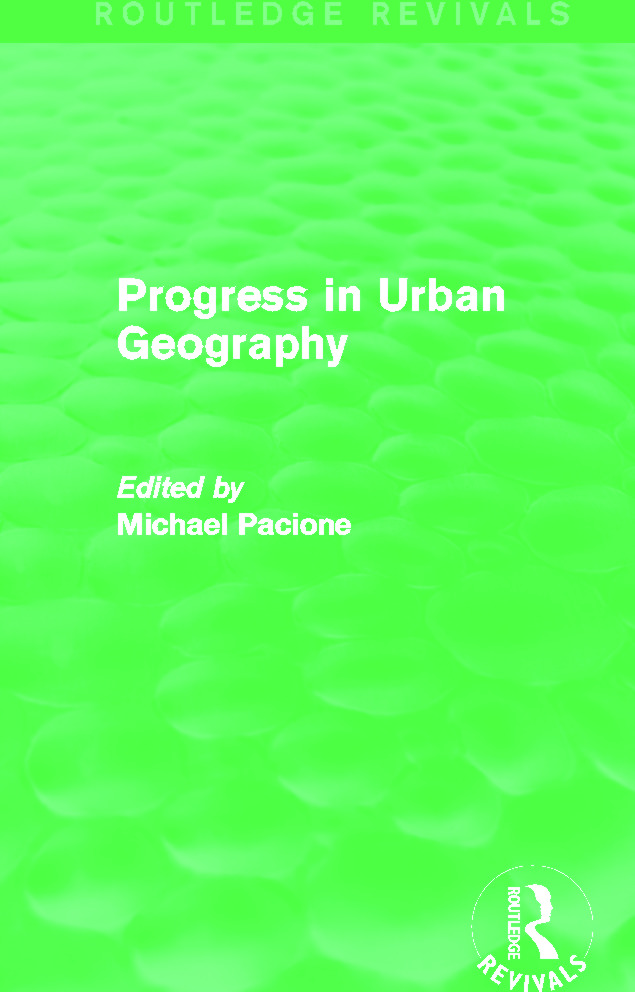 Progress in Urban Geography (Routledge Revivals) (Hardback) book cover