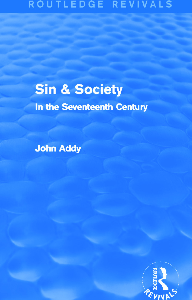 Sin & Society (Routledge Revivals): In the Seventeenth Century book cover