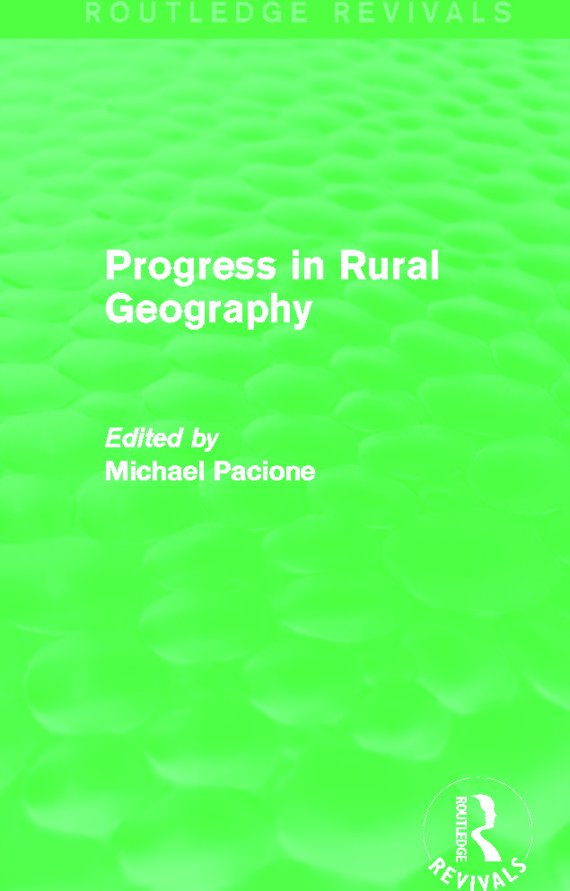 Progress in Rural Geography (Routledge Revivals): 1st Edition (Paperback) book cover