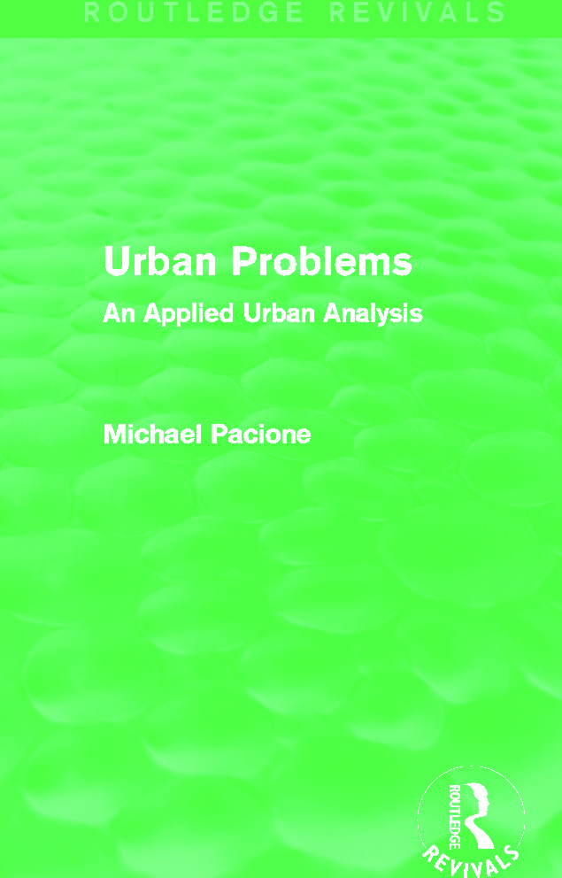Urban Problems (Routledge Revivals): An Applied Urban Analysis book cover