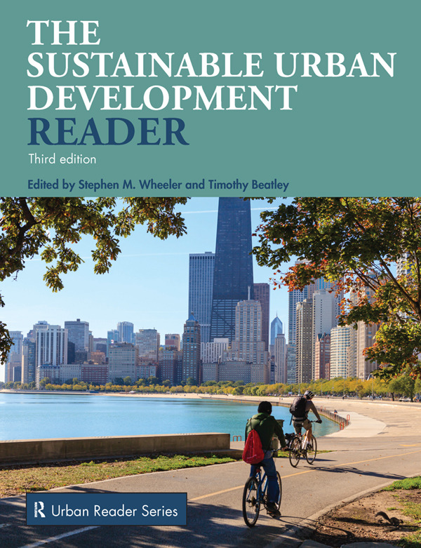 Sustainable Urban Development Reader book cover