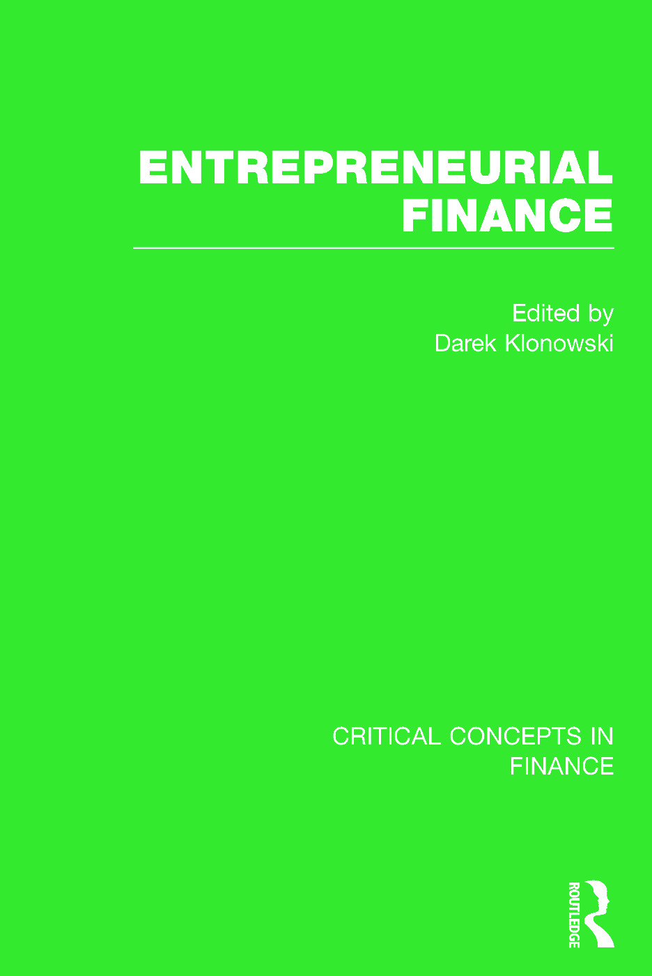 Entrepreneurial Finance book cover