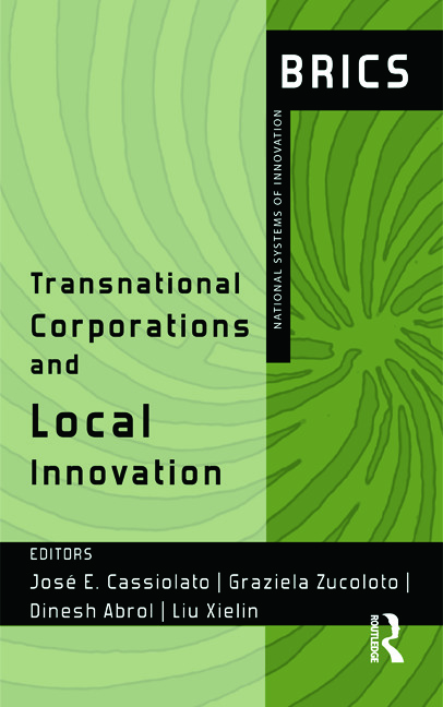 Transnational Corporations and Local Innovation: BRICS National Systems of Innovation, 1st Edition (Hardback) book cover