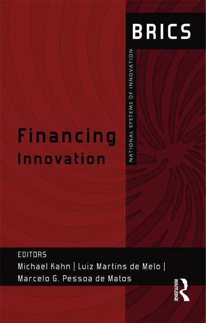 Financing Innovation: BRICS National Systems of Innovation, 1st Edition (Hardback) book cover
