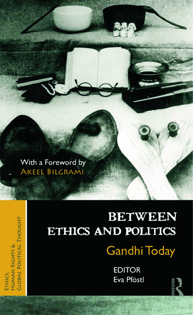 Between Ethics and Politics: New Essays on Gandhi book cover