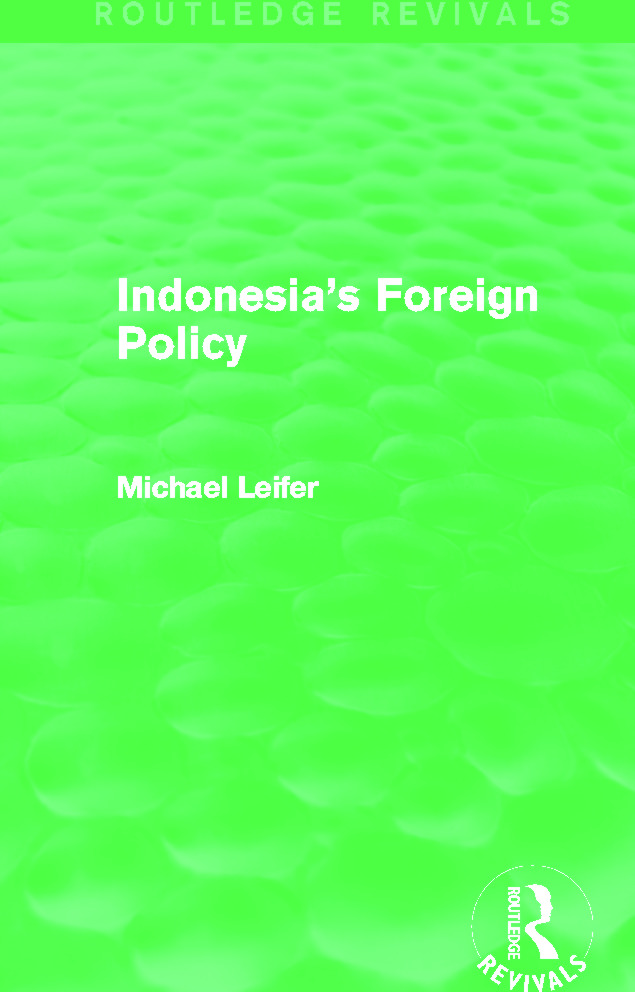 Indonesia's Foreign Policy (Routledge Revivals): 1st Edition (Paperback) book cover